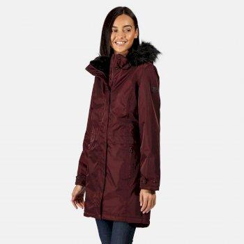 Women's Lexis Waterproof Insulated Parka Jacket Dark Burgundy