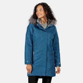Damski płaszcz zimowy Lexis niebieski