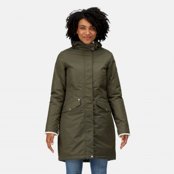 Women's Rimona Waterproof Insulated Parka Jacket Dark Khaki