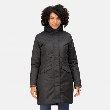Women's Rimona Waterproof Insulated Hooded Parka Jacket Black