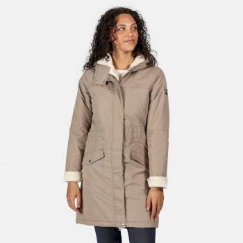 Women's Rimona Waterproof Insulated Parka Jacket Natural Stone