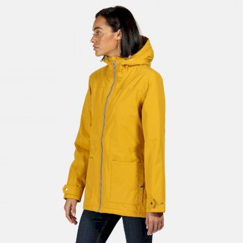 Women's Bergonia II Waterproof Insulated Hooded Jacket Mustard Seed