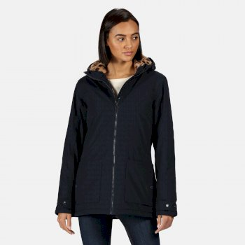 Women's Bergonia II Waterproof Insulated Hooded Jacket Navy