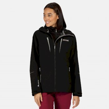 Women's Carletta V 3 In 1 Waterproof Hooded Walking Jacket Black
