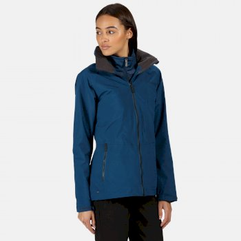 Women's Shrigley 3 In 1 Waterproof Insulated Hooded Walking Jacket Blue Opal