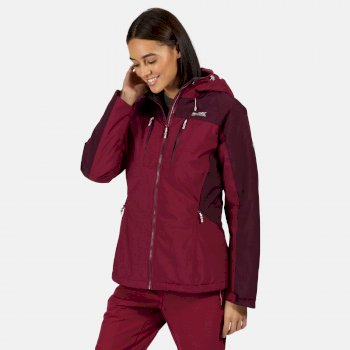 Women's Highton Stretch Waterproof Insulated Padded Walking Jacket Purple Potion Prune
