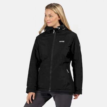 Women's Voltera Protect Waterproof Insulated Hooded Heated Walking Jacket Black
