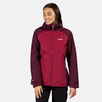 Women's Voltera Protect Waterproof Insulated Hooded Heated Walking Jacket Purple Potion Prune