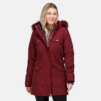 Women's Samiyah Waterproof Insulated Parka Jacket Claret
