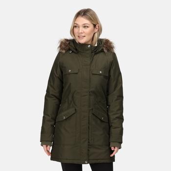 Women's Samiyah Waterproof Insulated Parka Jacket Dark Khaki