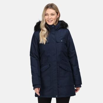 Women's Samiyah Waterproof Insulated Parka Jacket Navy