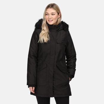 Women's Samiyah Waterproof Insulated Parka Jacket Black