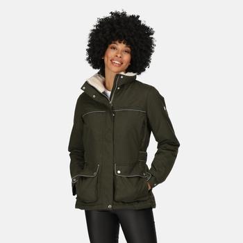 Women's Linnette Waterproof Insulated Jacket Dark Khaki