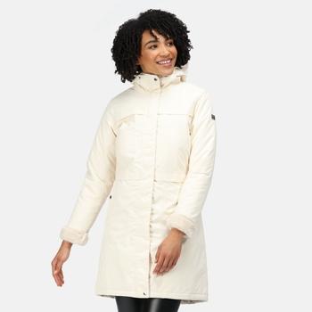 Women's Remina Waterproof Insulated Parka Jacket Light Vanilla