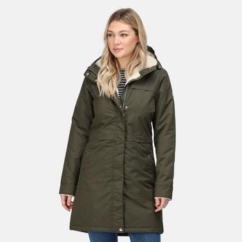 Women's Remina Waterproof Insulated Parka Jacket Dark Khaki