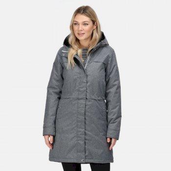 Women's Remina Waterproof Insulated Parka Jacket Cyberspace Marl