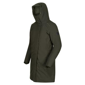 Women's Yewbank Waterproof Insulated Parka Jacket Dark Khaki