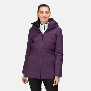 Women's Sanda Waterproof Insulated Jacket Dark Aubergine