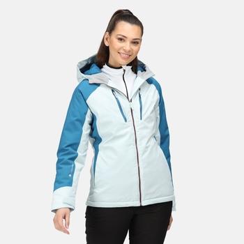 Women's Highton Stretch Padded II Waterproof Jacket Ice Blue Blue Sapphire Dark Denim