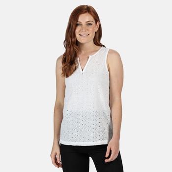Women's Jadine V-Neck Sleeveless Top White