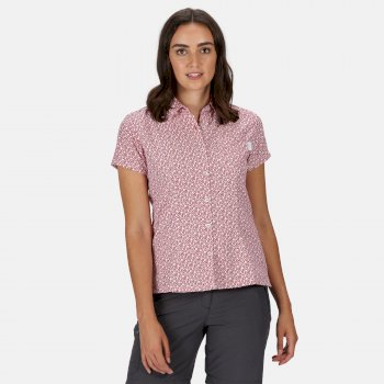 Women's Mindano V Short Sleeved Shirt Dark Cerise