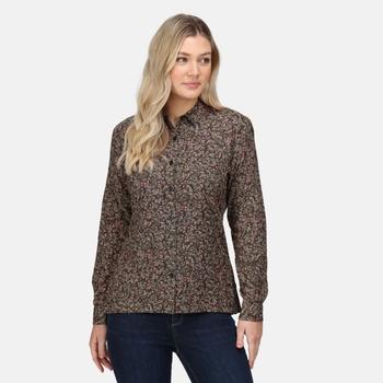 Women's Marilee Long Sleeved Shirt Dark Khaki Ditsy Floral