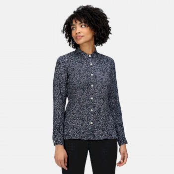 Women's Marilee Long Sleeved Shirt Navy Ditsy Floral