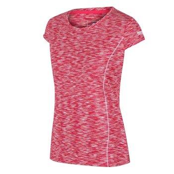 Women's Hyperdimension Quick Dry T-Shirt Dark Cerise White