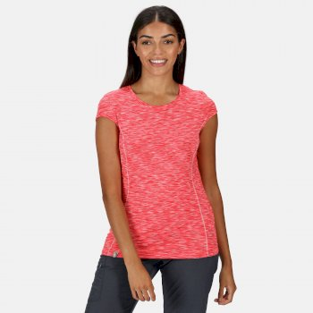 Women's Hyperdimension Quick Dry T-Shirt Neon Pink White