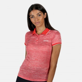 Women's Remex II Polo Neck T-Shirt Red Sky