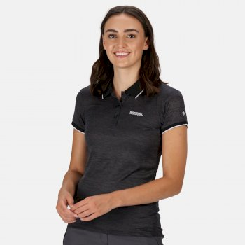 Women's Remex II Polo Neck T-Shirt Black