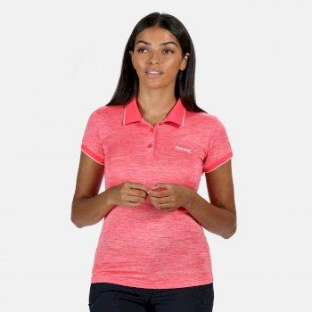 Women's Remex II Active Polo Shirt Neon Pink