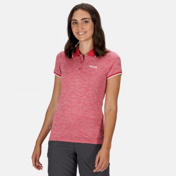 Women's Remex II Polo Neck T-Shirt Dark Cerise