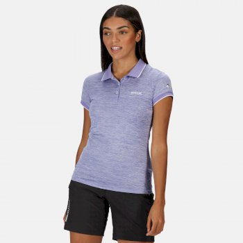 Women's Remex II Active Polo Shirt Lilac Bloom