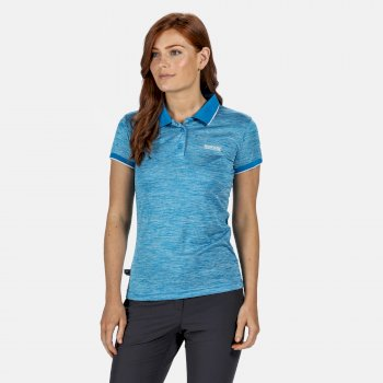 Women's Remex II Active Polo Shirt Blue Aster