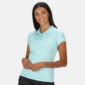 Women's Remex II Active Polo Shirt Cool Aqua