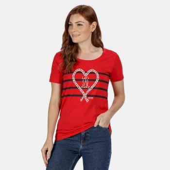 Kimberley Walsh Filandra IV Graphic T-Shirt True Red Heart Print
