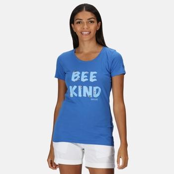 Women's Filandra IV Graphic T-Shirt Strong Blue Bee Print