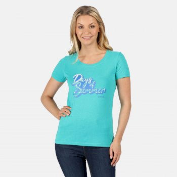 Women's Filandra IV Graphic T-Shirt Ceramic Blue Summer Print