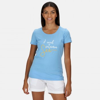 Women's Filandra IV Graphic T-Shirt Blue Skies Sea Print