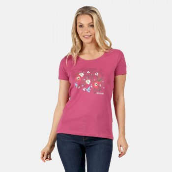 Women's Filandra IV Graphic T-Shirt Violet Flower Print