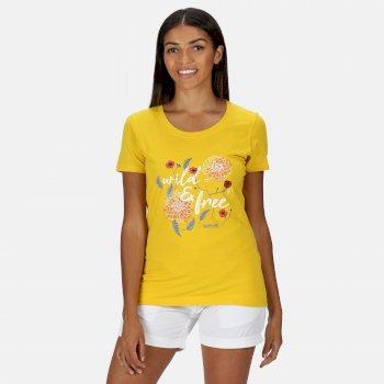 Women's Filandra IV Graphic T-Shirt Yellow Sulphur Wild Print