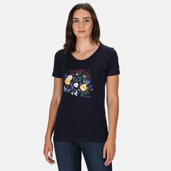 Women's Filandra IV Graphic T-Shirt Navy Flower Print