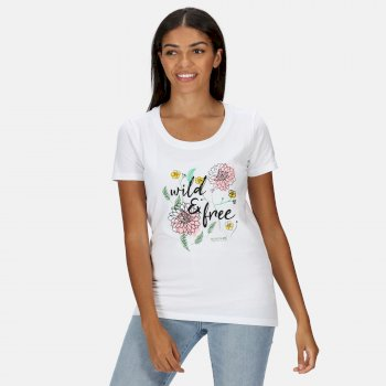 Women's Filandra IV Graphic T-Shirt White Wild Print