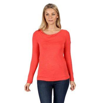 Women's Frayler Long Sleeved T-Shirt Red Sky