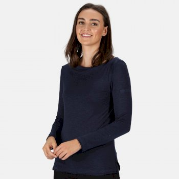 Women's Frayler Long Sleeved T-Shirt Navy