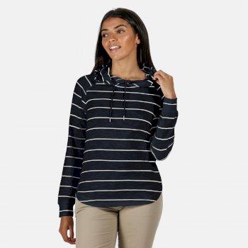 Women's Merindah Lightweight Overhead Hoodie Navy Stripe