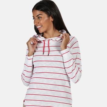 Women's Merindah Lightweight Overhead Hoodie Virtual Pink Stripe