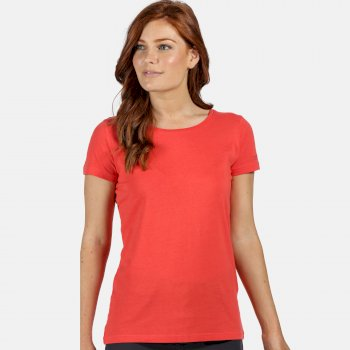 Women's Carlie Coolweave T-Shirt Red Sky
