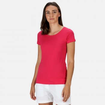 Women's Carlie Coolweave T-Shirt Dark Cerise